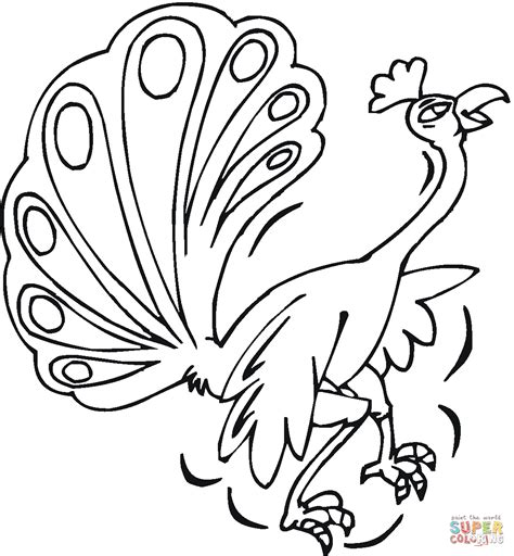 Peacock 17 Coloring Page Free Printable Coloring Pages