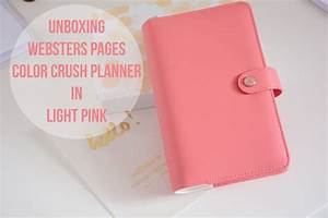 Unboxing Websters Pages Color Crush Planner (Light Pink ...