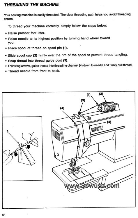 Industrial Sewing Machine Threading Diagram Wiring