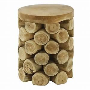 Tabouret Rondin De Bois : tabouret style montagne rondins de bois noldor grenier alpin ~ Teatrodelosmanantiales.com Idées de Décoration