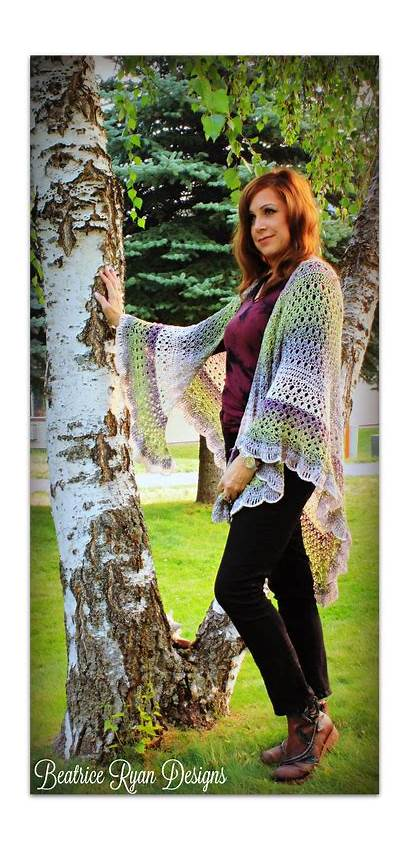 Shawl Angel Grace Amazing Crochet Wing Elena