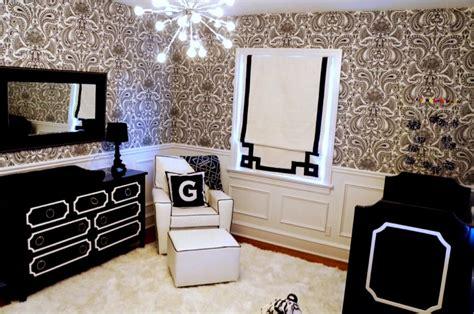 chambre baroque noir et blanc deco baroque noir et blanc