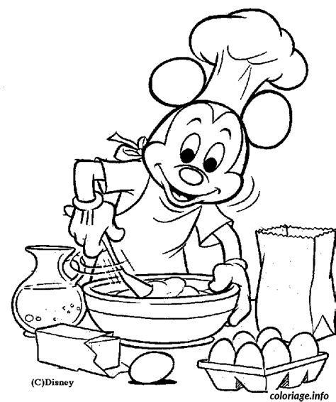 cuisine mickey coloriage mickey cuisine jecolorie com