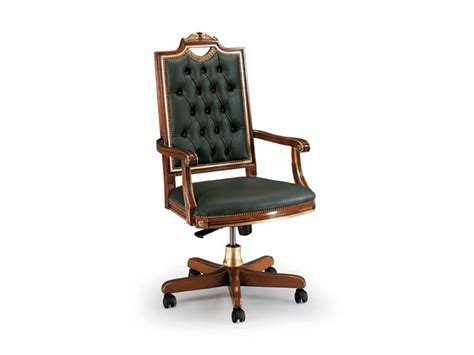 Sedia In Pelle Di Lusso Per Ufficio, Schienale Con