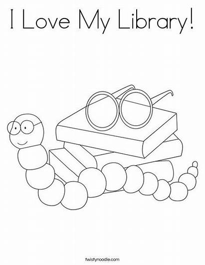Library Books Coloring Kindergarten Pages Week Lessons