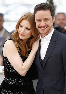 Jessica Chastain cosies up to James McAvoy on the red ...