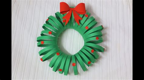 christmas decorations for toddlers with construction paper easiest diy wreath paper crafts decorations crafties