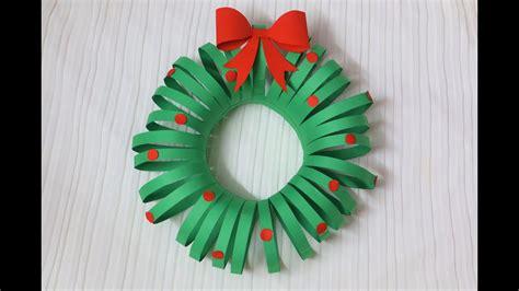 easiest diy christmas wreath paper crafts christmas