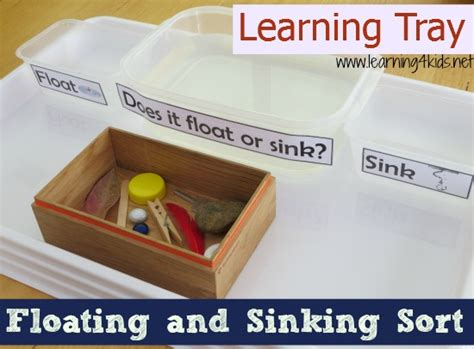 Sinking And Floating Activities floating and sinking science activity learning 4 kids