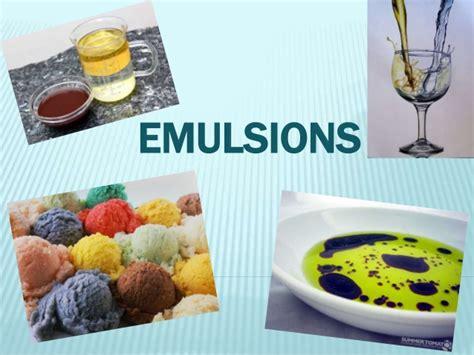 emulsion cuisine emulsions
