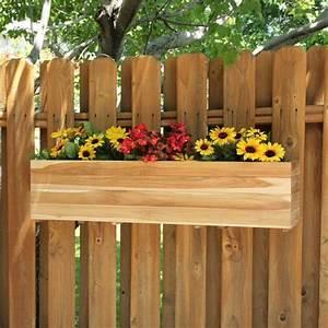 fence flower box Garden Pinterest Flower Boxes