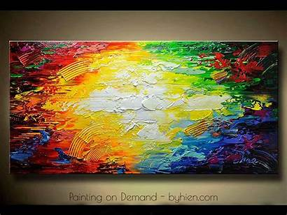 Acrylic Painting Trends Expressionism Canvas Abstract Landscape