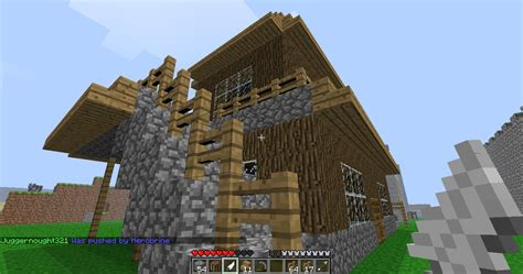 wood  cobblestone asian style home minecraft map