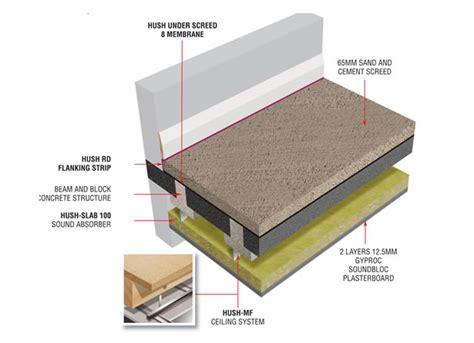 glass tile bathroom hd1047 hush system bb screed sound insulation