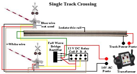 Train Track Wiring Railroad Crossing Gates With