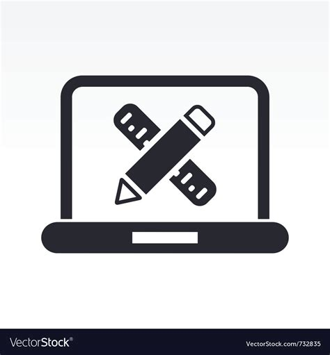 computer design icon royalty  vector image