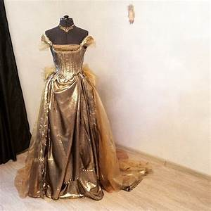 Cinderella Gold Dress Into The Woods Disney Cosplay Сorsage