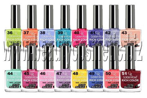 Golden Rose Rich Color Summer Nail Polish, Beautycosmetic
