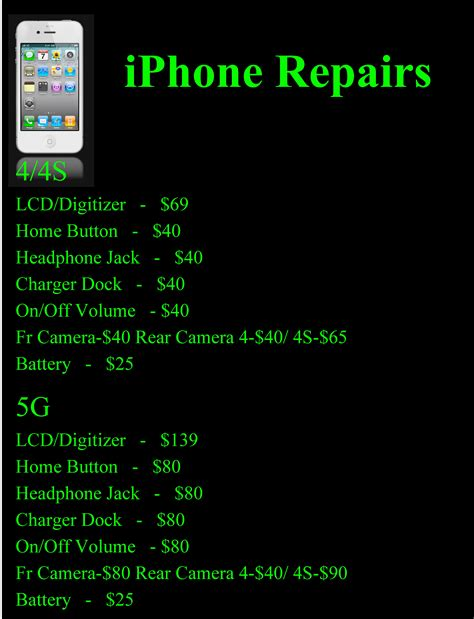 cell smart phone repair prices radical rides  bike
