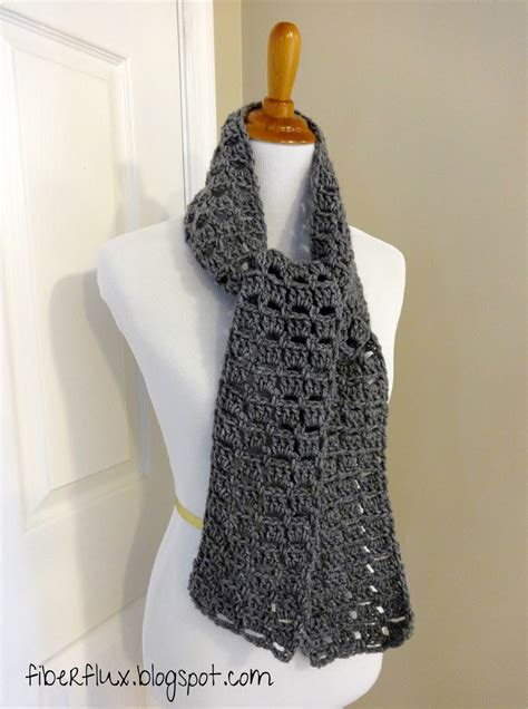 free crochet scarf patterns fiber flux free crochet pattern everybody scarf