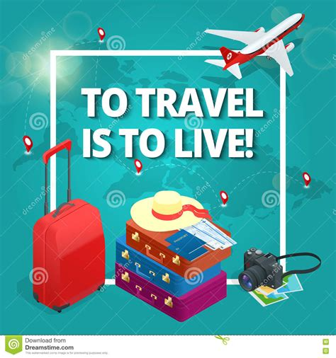 Travel Concept Travel Bags Passport Foto Camera And