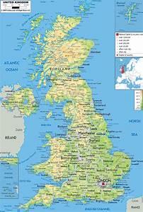 Physical Map Of United Kingdom