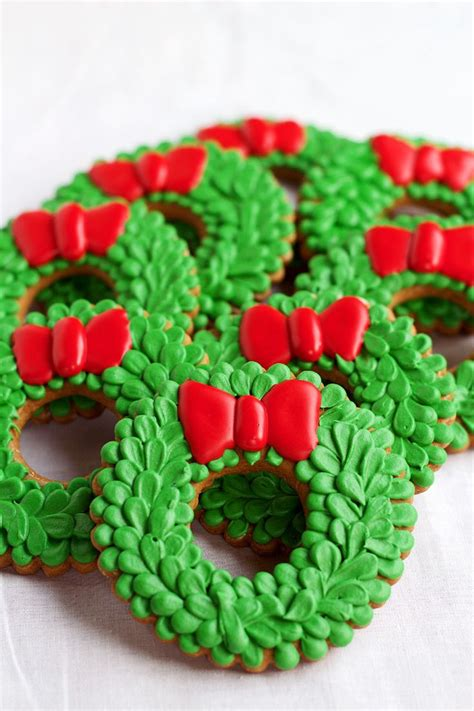 christmas wreath cookies ideas  pinterest