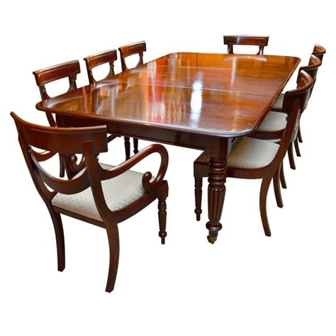 table and 8 chairs antique regency dining table with 8 vintage chairs at 1stdibs