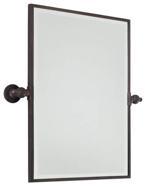 Bathroom Pivot Mirror Rectangular by Rectangle Pivoting Bathroom Mirror Traditional