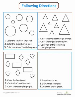 following directions coloring coloring page education com
