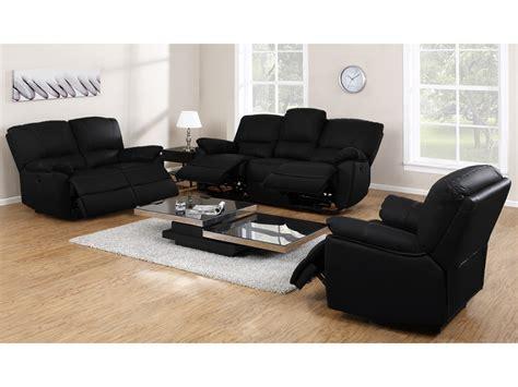 canapé plus fauteuil canapé fauteuil relax cuir noir ivoire ou chocolat marcis