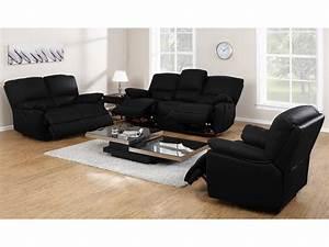Canapé Cuir Fauteuil : canap fauteuil relax cuir noir ivoire ou chocolat marcis ~ Premium-room.com Idées de Décoration