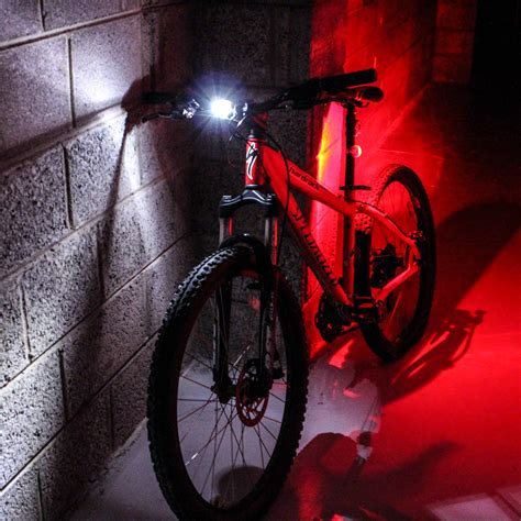 lights out 7 front media front and rear led 3 mode silicone mountain bike bicycle