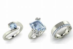 aquamarine engagement rings for every budget With aquamarine wedding ring