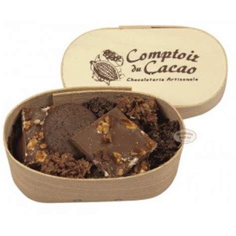 le comptoir du cacao assortiment chocolats comptoir du cacao boite en bois