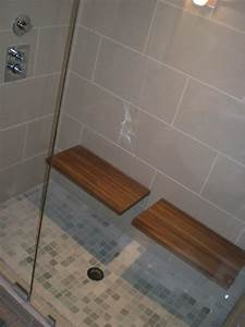 Superb teak shower benchin contemporary vancouver with for Teak tiles bathroom