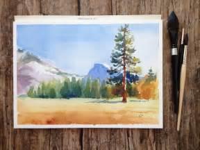 Simple Watercolor Landscape Painting Steps