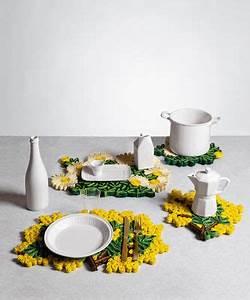Set De Table Jaune : set de table florigraphie mimosa 50 x 35 cm jaune vert seletti ~ Teatrodelosmanantiales.com Idées de Décoration