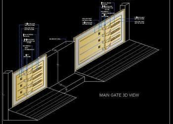 view  main gate  dwg file   staircase railing design steel railing design