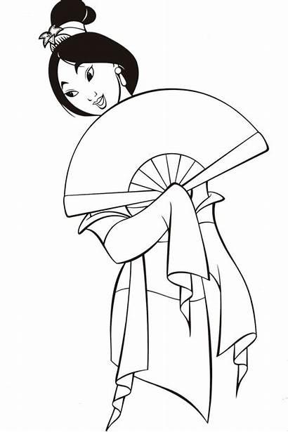 Mulan Coloring Printable Goanimate Disney Fan Holding
