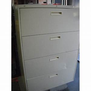 4 drawer lateral file cabinet beige legal letter allsold With legal to letter file cabinet converter
