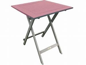 Table De Balcon Pliante : table de jardin 65 cm pliante trinidad coloris rose ~ Melissatoandfro.com Idées de Décoration