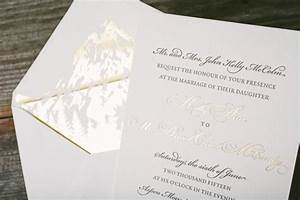 classic wedding invitations with gold foil envelope liners With foil pressed wedding invitations diy