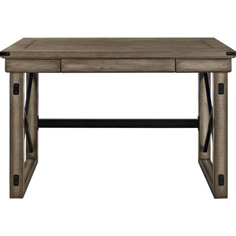 gray computer desk ameriwood home forest grove rustic gray computer desk with