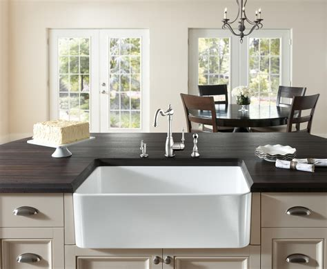 Farmhouse Kitchen Countertops by Wood Countertops With Sinks Wood Countertop