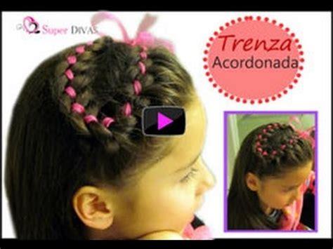 peinados infantiles paso a paso trenza con cinta entrecruzada