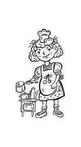 Coloring Chef Kitchen Pages Playing Child Hopscotch Chefs Supercoloring Printable Drawing Enregistree Depuis sketch template