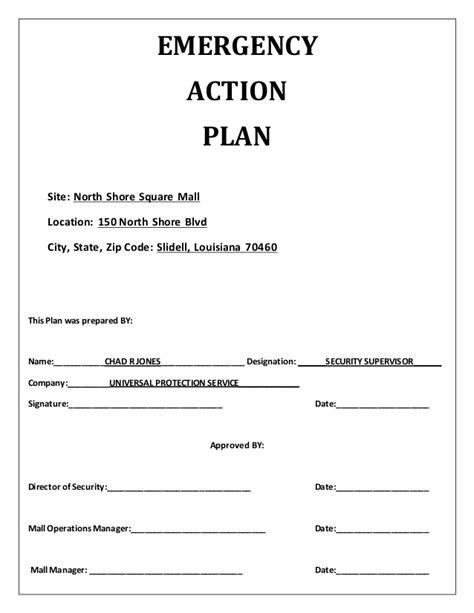 emergency plan template emergency plan