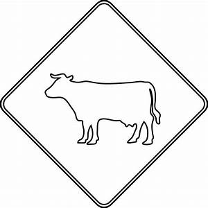 Cattle Crossing, Outline | ClipArt ETC