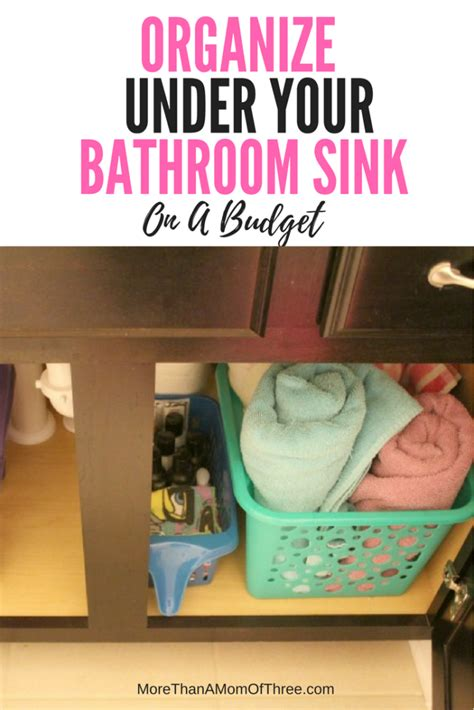 How To Organize Under Your Bathroom Sink On A Budget